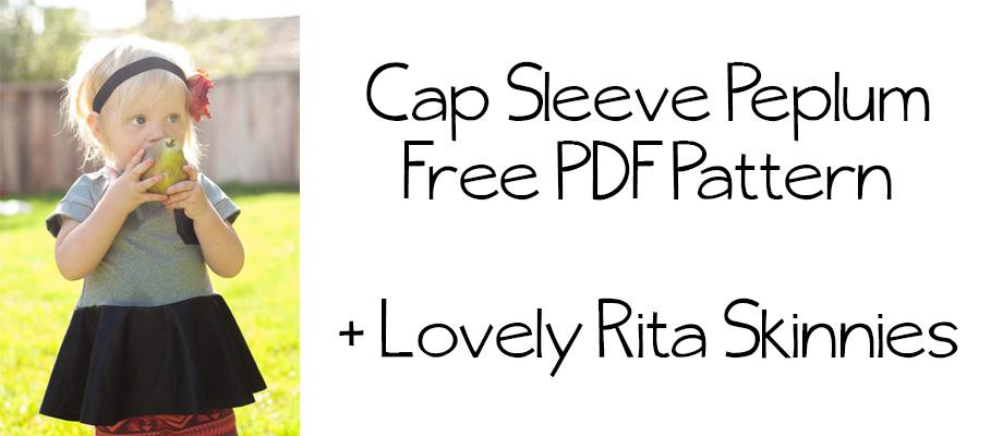 Cap Sleeve Peplum || Free Pattern