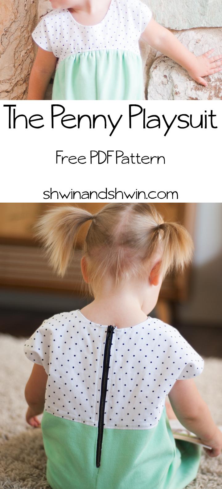 The Penny Playsuit    Free PDF Pattern    Shwin&Shwin