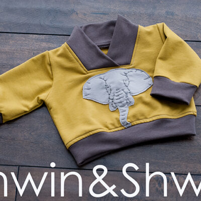 Embroidered Elephant Sweatshirt || Free Template