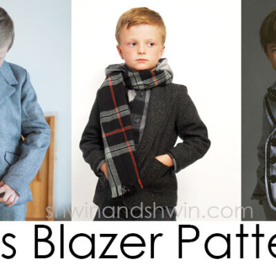 Boys Blazer Pattern Sew-a-long