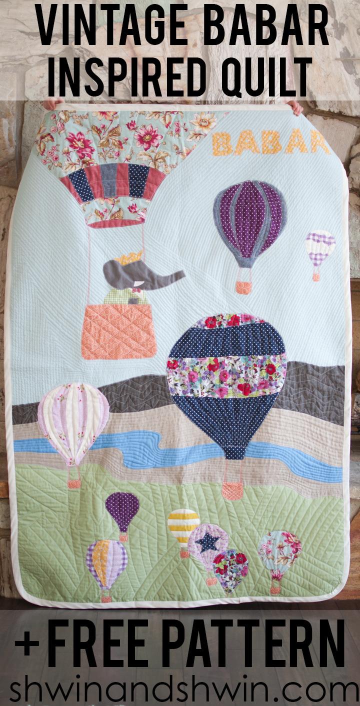 Vintage Babar Inspired Quilt Free Pattern
