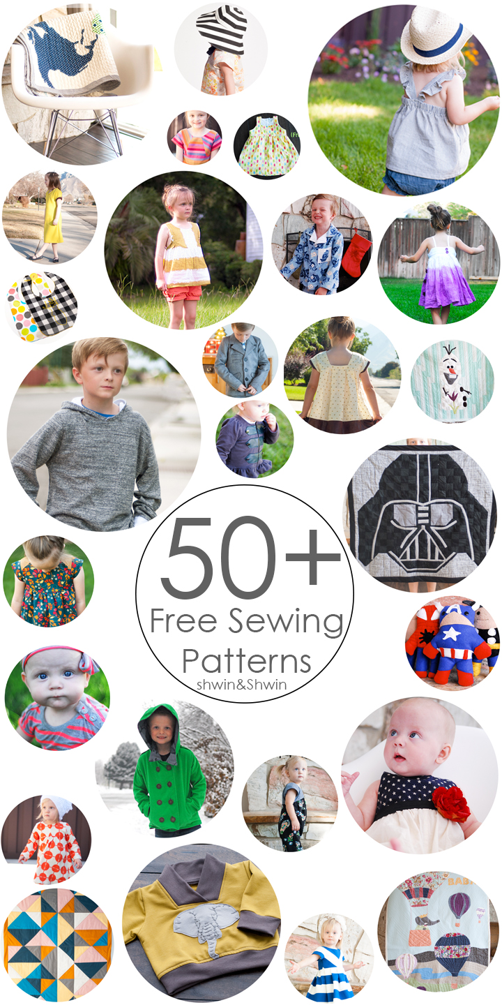50+ Free Sewing Patterns