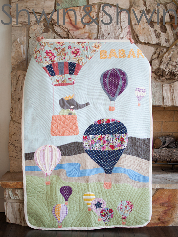 Vintage Babar Inspired Quilt - Shwin and Shwin