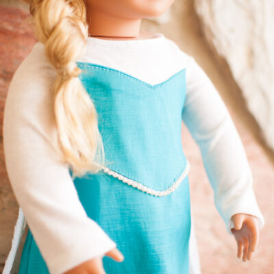 Elsa Inspired Doll Dress Pattern