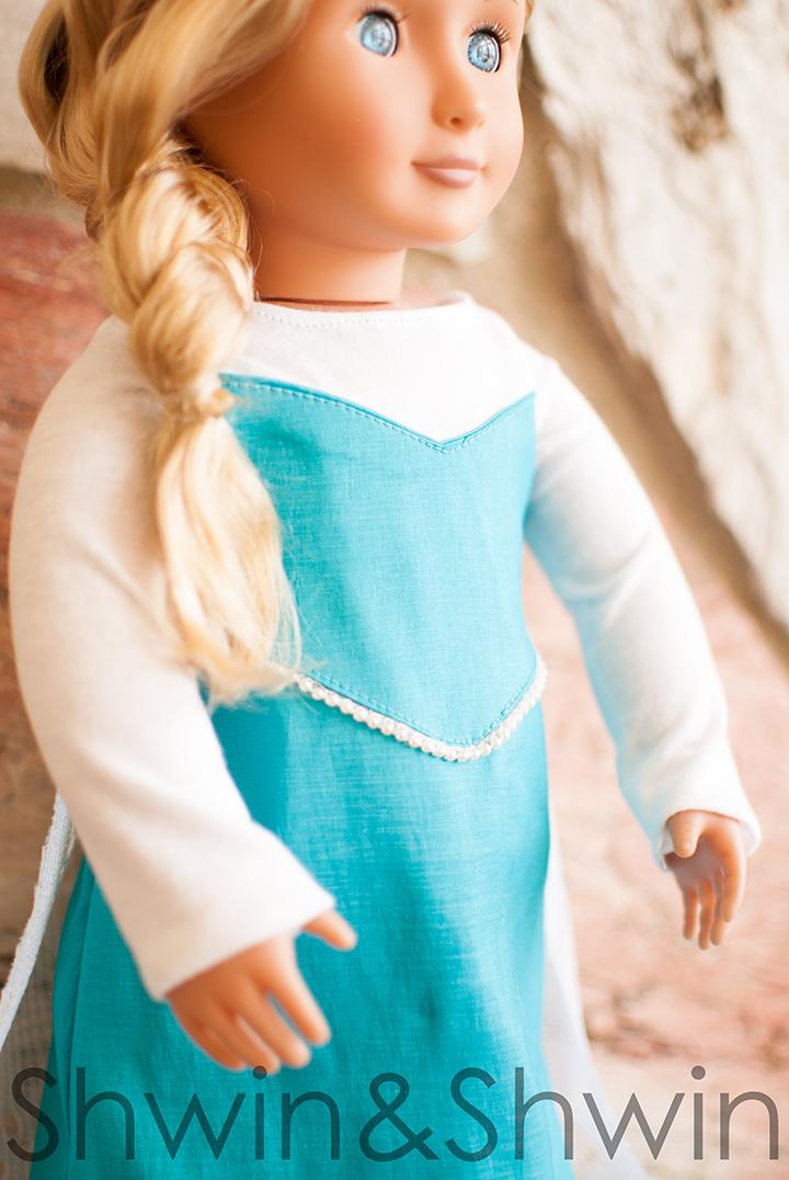 Elsa Inspired Doll Dress Pattern Shwin And Shwin