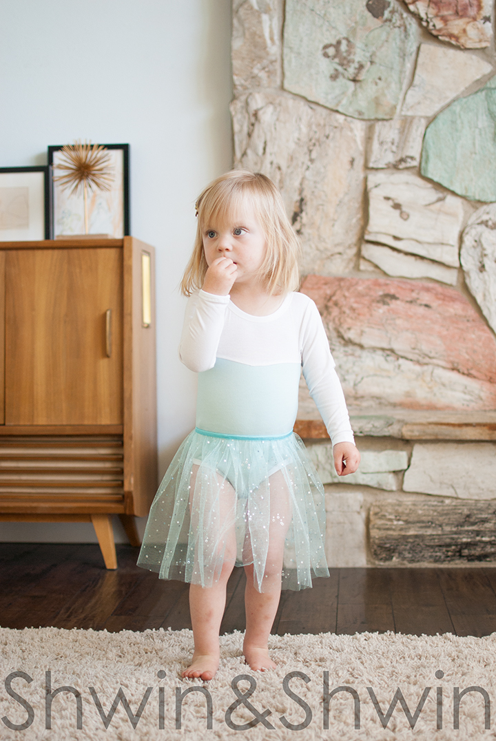 Elsa Inspired Leotard and Skirt