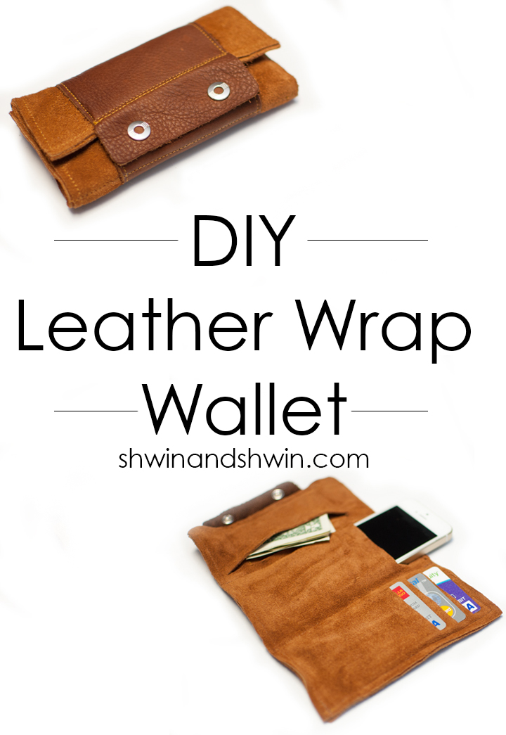 Diy leather wrap wallet shwin and shwin for Craft projects for guys