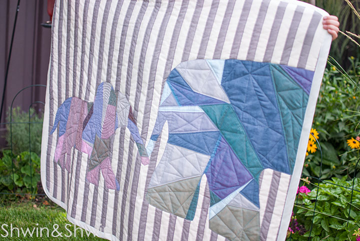 Elephants on Parade Quilt || FREE Pattern