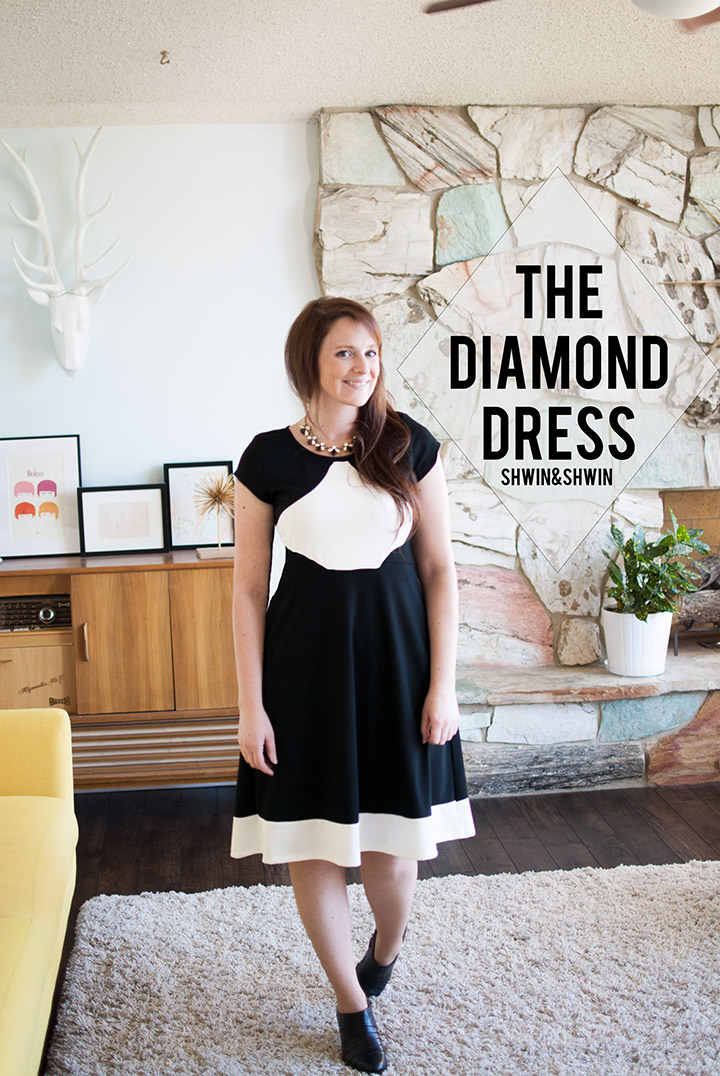 The Diamond Dress From Pattern Anthology Unbiased Collection    Shwin&Shwin
