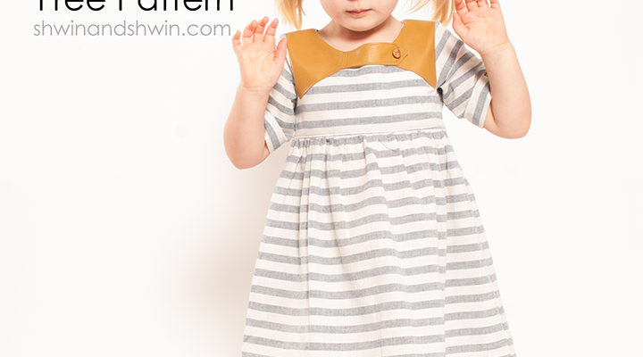 Linen + Leather Dress || Free Pattern