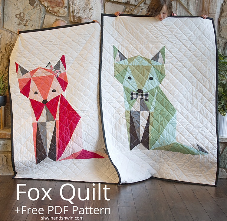 fox quilt free pdf pattern   shwin and shwin