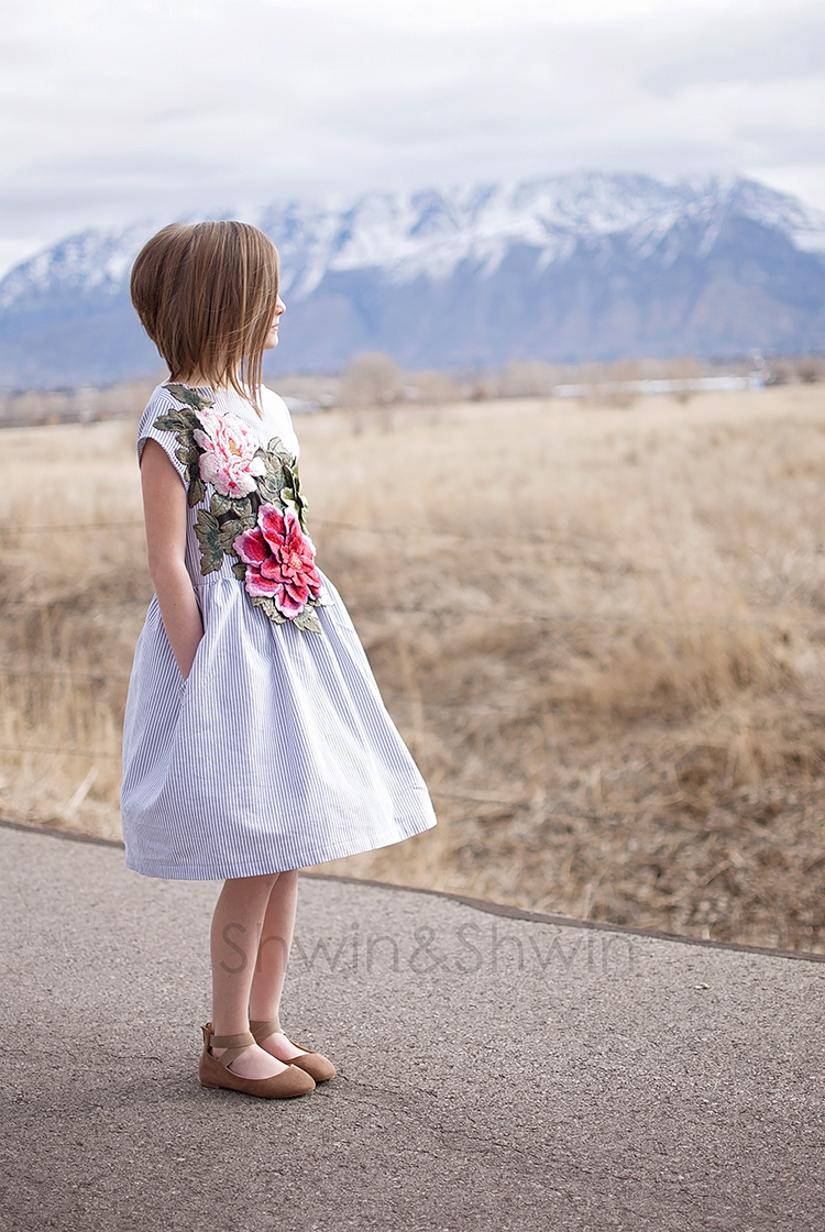 Embroidered Floral Easter Dress