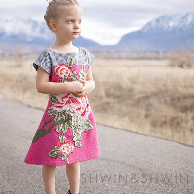 Floral Embroidered Easter Dress    Version 2