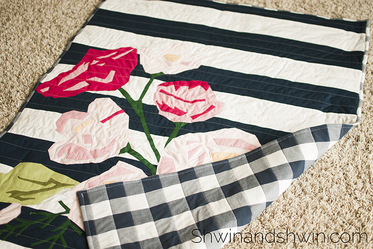 Floral Quilt Applique Pattern