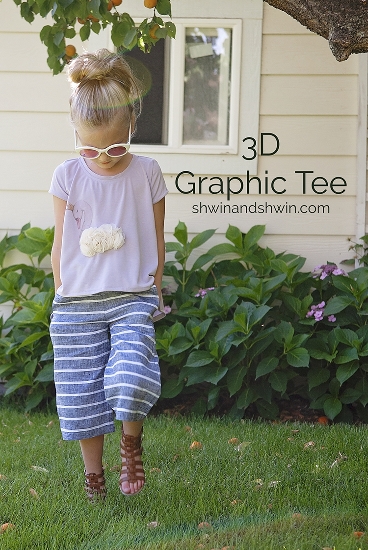 3D Swan Graphic Tee