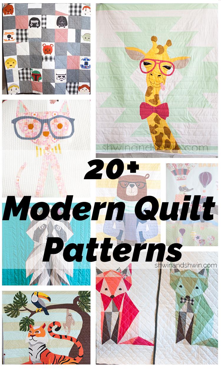 20+ Modern Quilt Patterns