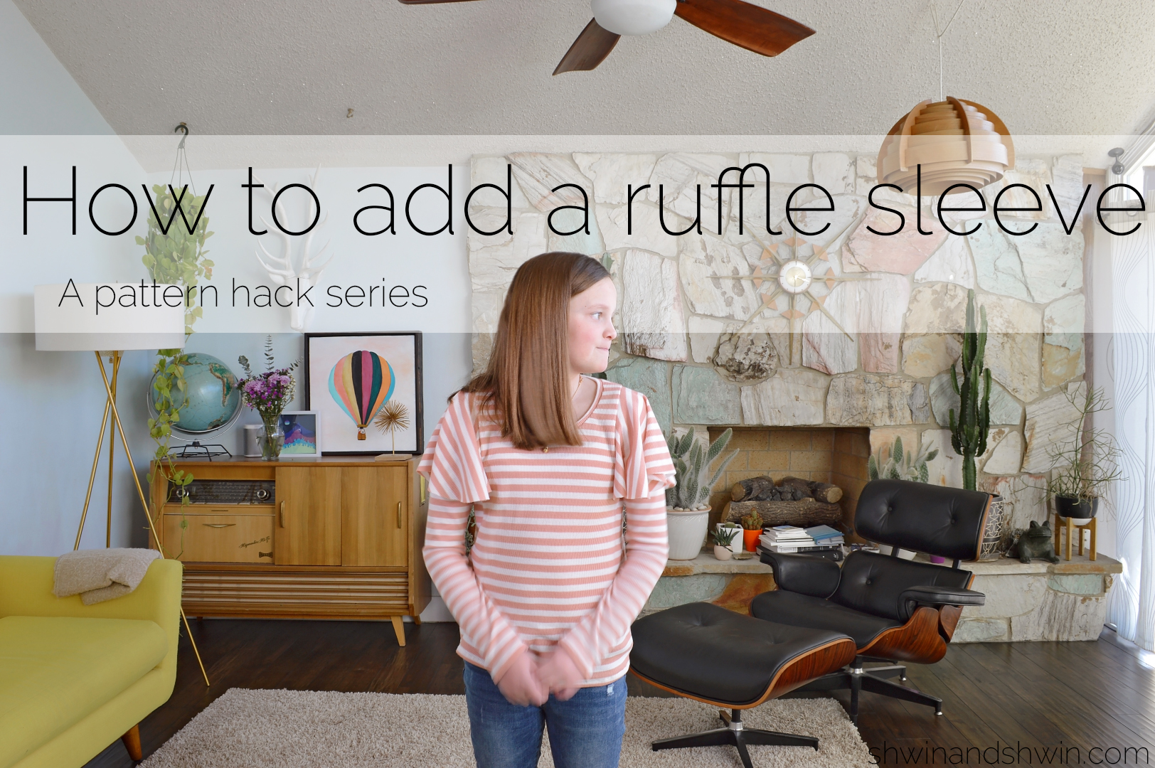 How to add a ruffle sleeve to a tee