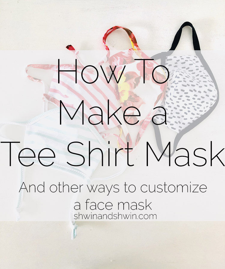 How to make an adjustable tee shirt mask